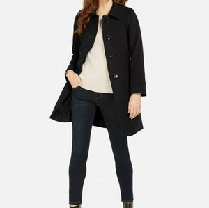 Anne Klein Single-Breasted Wool & Cashmere Coat